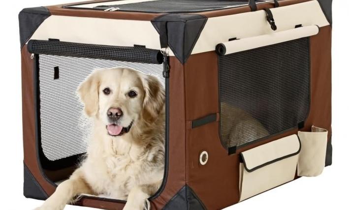 Karlie Hunde Transportbox Smart Top De Luxe, beige/braun